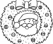 Free coloring and drawings Christmas wreath to be colored Coloring page