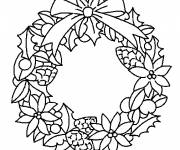 Free coloring and drawings Christmas wreath to download Coloring page