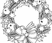 Free coloring and drawings Kings christmas wreath Coloring page