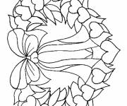 Free coloring and drawings Simple Christmas wreath Coloring page