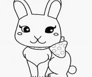 Coloring pages Cute bunny