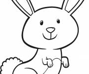 Coloring pages Cute bunny smiling