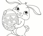 Coloring pages Easy cute bunny