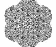 Coloring pages Mandala Difficult to cut