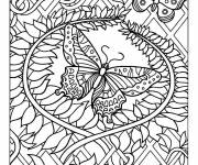 Coloring pages Difficult to cut butterfly