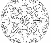 Coloring pages Easy Mandala Butterfly