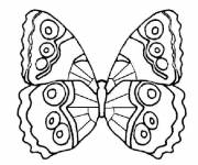 Coloring pages Easy pencil butterfly