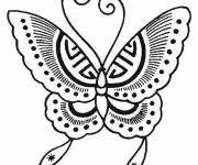 Coloring pages Easy to cut butterfly