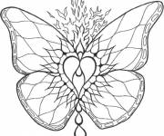 Coloring pages Fire Butterfly Mandala