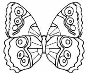 Coloring pages Simple butterfly to color