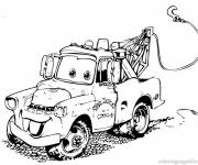 Free coloring and drawings Cars Martin Disney Coloring page