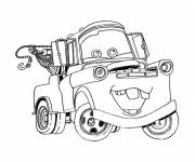 Coloring pages Disney funny car