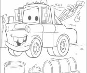 Coloring pages Martin tow car