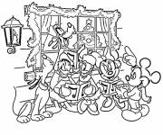 Coloring pages Disney Characters Celebrate Christmas