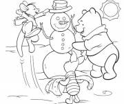 Coloring pages Winnie and the snowman