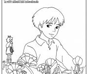 Coloring pages Arrietty The Little World of Borrowers