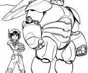 Coloring pages Disney heroes in black and white