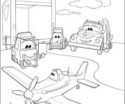 Coloring pages Dusty and Dottie the Restorative