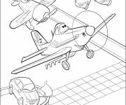 Coloring pages Dusty planes to cut