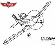 Coloring pages Plane Dusty