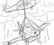 Coloring pages Planes Dusty after his accident