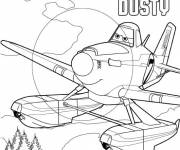Coloring pages Planes Dusty Disney