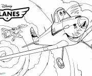 Coloring pages Planes Dusty takes off