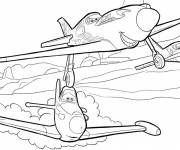 Coloring pages Planes Dusty vector