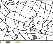 Coloring pages Magic Easy Dog