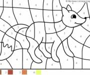Coloring pages Magic Easy Fox numbered
