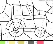 Coloring pages Magic Easy Tractor