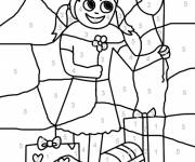 Coloring pages Magic with child