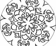 Coloring pages Easy flower mandala
