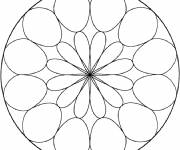 Coloring pages Easy Mandala in a circle