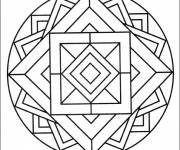 Coloring pages Easy Mandala on computer