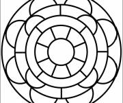 Coloring pages Easy Vector Mandala