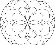 Coloring pages Geometric Easy Mandala