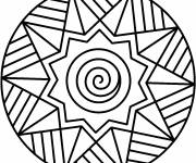 Coloring pages Illustration Easy Mandala