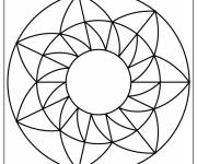 Coloring pages Mandala Easy to decorate