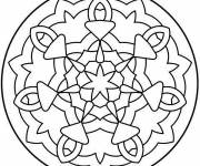 Coloring pages Mandala Easy to make