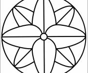 Coloring pages Mandala in simple vector