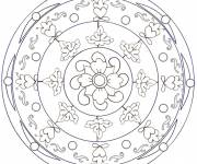 Coloring pages Relaxing Mandala Flower