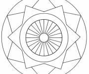 Coloring pages Simple online mandala