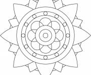 Coloring pages Stylized Flower Mandala