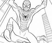 Coloring pages Easy Spiderman in New York