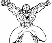 Coloring pages Maternal spiderman in action