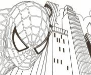 Coloring pages Spiderman back