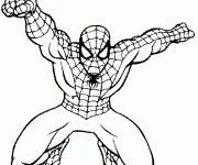 Coloring pages Spiderman homecoming in action