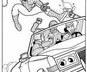 Coloring pages Spiderman The Hero against criminals