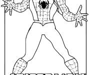 Coloring pages Spiderman The Strong Hero